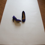 Shoes on photography backdrop